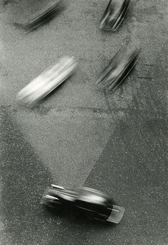 Otto Steinert. cars, movement, urban, city, journey, abstract, blur, motion, traffic, concrete, transit, transportation, art, photography, black and white
