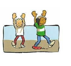 Rekken en Strekken Nodig: rustige muziek waarop de kinderen kunnen lopen Laat de kinderen in een rustig tempo door de klas lopen. Geef dan de volgende instructie: Probeer je voeten steeds goed neer te zetten. Eerst de hakken en dan je tenen. Nu strek je je armen naar boven. Je maakt je zo lang als je kunt (één minuut). En nu rek je je bij iedere (langzame) stap van de ene- naar de andere kant en buig je als een boom in de wind (dertig seconden). Buig je lopend voorover, bijna tot de grond…