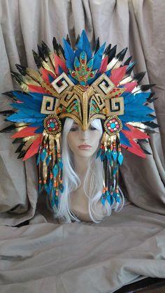 Headdress, Headpiece, African Princess, Cool Costumes, Burning Man, Samba, Egyptian, Captain Hat, Carnival
