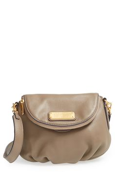 A just-right Marc Jacobs crossbody in a chic saddle-bag silhouette