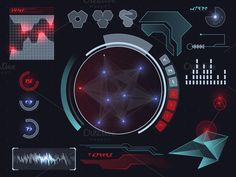 Futuristic HUD, Touch GUI Elements by BeOGraphic on Creative Market