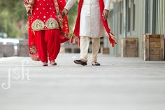 Indian wedding by JSK Photography. Bride and groom portrait shoot