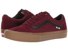 vans old skool pro shoes - port / blackgum