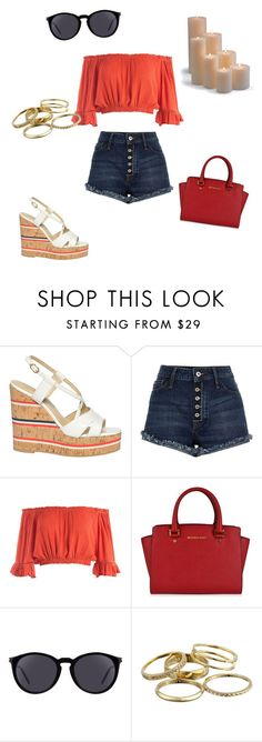 """""""Untitled #218"""" by anitababe46 ❤ liked on Polyvore featuring L'Autre Chose, River Island, Sans Souci, MICHAEL Michael Kors, Yves Saint Laurent, Kendra Scott and Frontgate"""