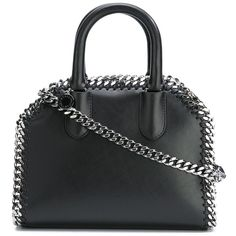 Stella Mccartney Mini Tote Box Bag ($835) ❤ liked on Polyvore featuring bags, handbags, tote bags, black, zippered tote bag, leather handbag tote, leather handbags, mini tote and mini tote bags