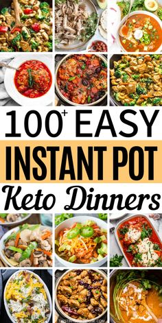 make sticking to the keto diet a breeze with these 100 delicious and easy keto instant pot meals. The ketogenic diet doesn't get any easier than this! Diet Delicious Easy Keto Instant Pot Meals - This Tiny Blue House Ketogenic Diet Meal Plan, Ketogenic Diet For Beginners, Diet Meal Plans, Ketogenic Recipes, Diet Recipes, Healthy Recipes, Dessert Recipes, Breakfast Recipes, Lamb Recipes