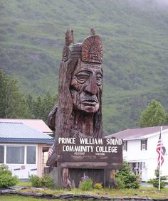 In valdez.  On the Prince William Sound Community College campus in town.  Alaska