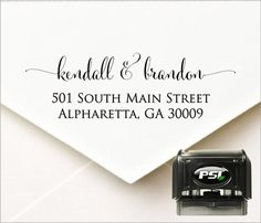 Personalized Self Inking Return Address Stamp by PrettySweetParty