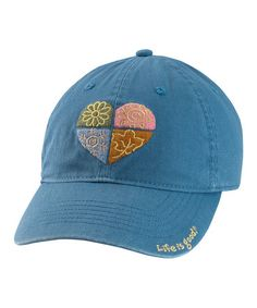 $12.99 ~Simply Blue Four Season Heart Chill Baseball Cap - Women by Life is good®  today! Many styles to choose from.