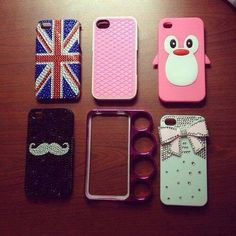 I love the British flag, mustache, and bow cases :D