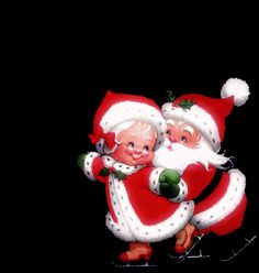 Mr And Mrs Claus Clipart clipart Merry Christmas Gif, Christmas Scenes, Christmas Clipart, Father Christmas, Christmas Pictures, Christmas Art, Beautiful Christmas, Christmas And New Year, Vintage Christmas