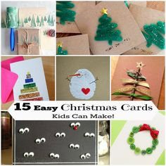 15 Easy Holiday Cards for Kids to Craft