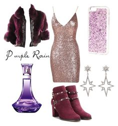 """""""Purple Rain"""" by foxtheimer on Polyvore featuring Roberto Cavalli, Valentino and Apples & Figs"""