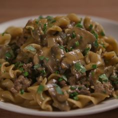 Beef Stroganoff (for those times you need a warm, satisfying meal and dont have time for the steak version!)