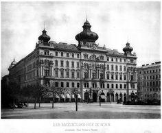 The Maximilianhof, Vienna German Architecture, Vintage Architecture, Commercial Architecture, Classical Architecture, Historical Architecture, Dream Mansion, English Countryside, City Buildings, Beautiful Buildings