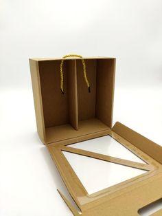 Pudełko prezentowe z okienkiem i przegródką W54 10×20.7×21.5cm   Opakowania i kosze prezentowe Incense, Paper