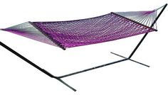 Classic Caribbean Style Purple Rope Hammock w/ Wood Spreaders contemporary-hammocks. Email. Save to Ideabook13Questions1Print
