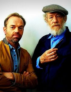 Hugo Weaving & Ian McKellen..oh to sit down and have a chat and some tea with these two!