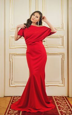Long evening gown      Drapedtop     <span...