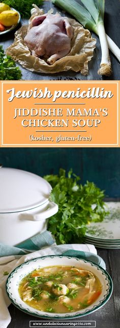 Every Jewish mother has their own version of this chicken and noodle soup with matzo balls- the cure-all-ailments-wonder.  * * *  kosher glutenfree recipe Jewish cuisine food blog food photography comfort food