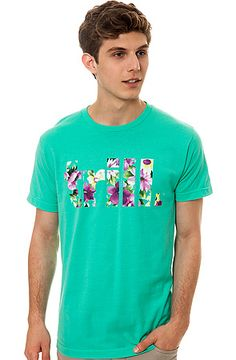 The Trill Pink Floral Tee in Mint by Dope Boy Magic