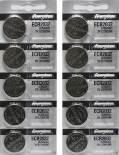 Lot of 10 Fresh Stock Energizer CR2032 Lithium Battery 3V Coin Cell Manufacturing Date October 2017 When you want big power for your small electronics... #lithium #batteries #watch #energizer