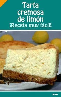 #receta #tarta #cremosa #limón #fácil!