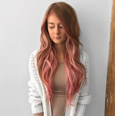 Try some highlights around the face if you're not ready to dye all of your hair cotton candy pink.   18 Pictures That Will Make You Want To Dye Your Hair Millennial Pink
