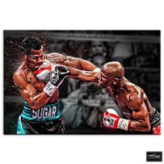 Boxing floyd mayweather sports box #framed #canvas art picture hdr #280gsm, View more on the LINK: http://www.zeppy.io/product/gb/2/321842272614/