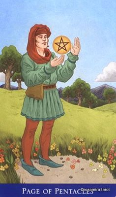 Page of Pentacles ~ Llewellyn's Classic Tarot