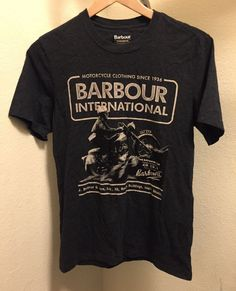 ☀BARBOUR INTERNATIONAL☀MOTORCYCLE CLOTHING SINCE 1936 MENS T-SHIRT  | eBay