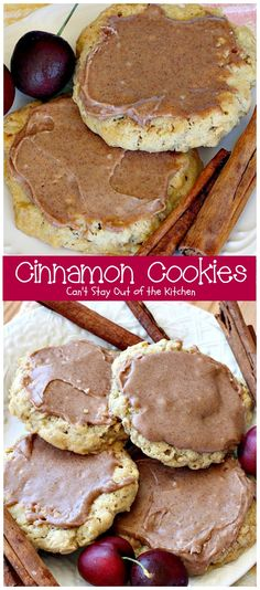 Cinnamon Cookies   Can't Stay Out of the Kitchen   these sensational #oatmeal #cookies have a delicious #cinnamon frosting to die for. We love this recipe. #dessert