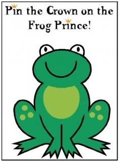 Pin the Crown on the Frog FREE Printable Game