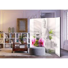 Sibling Room, Buddha, 3d Wallpaper Mural, Decorative Room Dividers, Decoration Originale, Changing Room, Textiles, Furniture Decor, Orchids