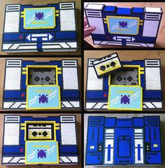 3D Soundwave Tape Deck - Able to Hold 2 Cassettes - Transformers - Perler Beads