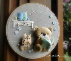 : Porta de maternidade - tema ursinho - do João