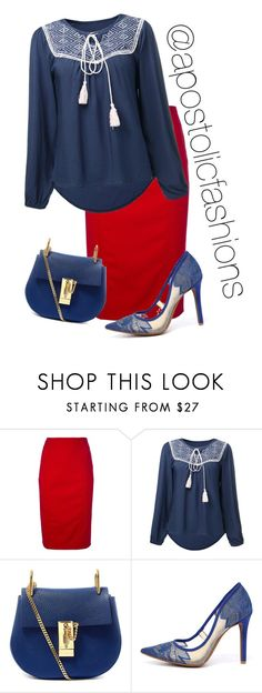 """Apostolic Fashions #1398"" by apostolicfashions on Polyvore featuring Valentino, Chloé and Jessica Simpson"