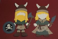 Norway Vikings…….. (I couldn't decide whether to make a girl or a boy so I made a pair.)…..  Paper Doll Swap ~ COMPLETE ~ - Page 9 - The DIS Discussion Forums - DISboards.com