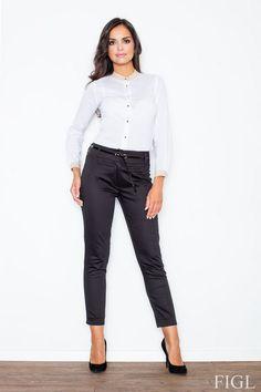 Czarne spodnie damskie idealne do pracy