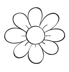Outline Flower Stock Photos, Pictures, Royalty Free Outline Flower Images And Stock Photography Simple Flower Drawing, Flower Pattern Drawing, Easy Flower Drawings, Flower Outline, Flower Sketches, Simple Flowers, Easy Drawings, Flower Art, Flower Logo