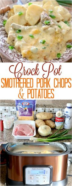 Crock Pot Smothered Pork Chops and Potatoes from The Country Cook