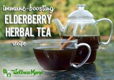 Elderberry tea combines immune boosting elderberries with cinnamon, turmeric and honey (optional) for a delicious and healthy tea.
