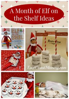 FANTASTIC! A month of Elf on the Shelf ideas and printables. It's the only #ElfOnTheShelf post you'll need this year!