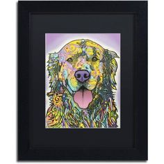Trademark Fine Art Silence Is Golden Canvas Art by Dean Russo, Black Matte, Black Frame, Size: 16 x 20