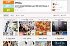 Whether you're a political junkie, foodie, lovebird or bachelor, @20x200 has a little bit of art for everyone on their Pinterest boards.