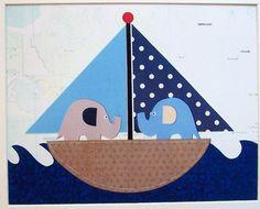 The world travelers-Nursery Room Art Decor Beach Home Decor Boys Room Art by vtdesigns, $14.00