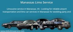 Limousine service in Manassas, VA - Looking for reliable airport transportation and limo car services in Manassas for wedding party and special events? Call us now!