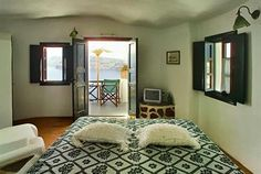 Terrace off the upstairs bedroom ... Fanari Villas ... a great place to watch the sunset!