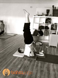 Our fave dude in Shoulderstand #namaste #yoga