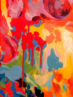 """Acrylic paint on board: """"heart juice"""" by Stephanie Toppin, September 2006"""